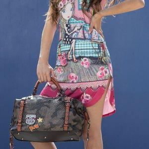 Laquanna Print Mini Duffel Bag.by Nicole Lee